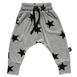 Wholesale Kids Haren Pants - spring autumn child bottoms high quality kids children's boy's girl's star printed haren pants baggy pants trousers