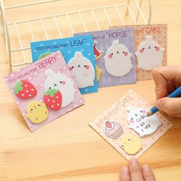 Wholesale Notepad Animal Sticky - Sticky Notes Creative Cute Cartoon Animals Post Notepad Filofax Memo Pads Office Supplies School Stationery Scratch G646