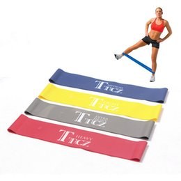 Wholesale Tension Ropes Exercise - free shipping Tension Ankle Resistance Band Exercise Loop Crossfit Strength Weight Training Fitness Loop Workout Leg Butt Lift