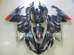 Wholesale Aprilia Rs125 Fairing Set - Injection mold Fairing KIT for Aprilia RS4 125 06 07 08 09 10 11 RS4 RSV 125 2006 2009 2011 Black Red ABS Fairings set+3gifts AP05