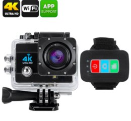 Wholesale Ccd Camera Wifi - Q3H 4K Ultra HD 1080P Waterproof Sports Camera 16MP LCD Camcorder Wifi Remote
