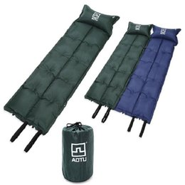 Wholesale Automatic Inflating Mattress - Waterproof Outdoor Sleeping Pad Camping Mat With Pillow Automatic Self-Inflating Dampproof Camping Tent Air Mat Mattress Free Shipping