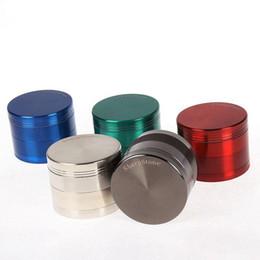 Wholesale Grinder Machine Parts - High Quality 4 Part Alloy Herb SharpStone Grinders 5 Colors 75mm Diameter Spice Crusher Cigarette Machine Magnet Strainer Grinders 5919S