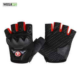 Wholesale R Bike - GEL Pad Half Finger Cycling Gloves Summer Racing luvas para ciclismo MTB Mountain Bike Bicycle Cycle Gloves For Man Women BST-016-R