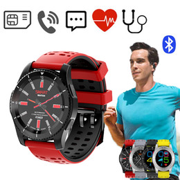 Wholesale Sms Control - Smart Watch Bluetooth 4.0 SIM Card Call SMS Reminder GS8 Heart Rate Blood Pressure monitor Pedometer Smartwatch