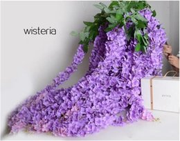 Wholesale Pretty Homes - 1.6 Meter Long Pretty Artificial Silk Flower Wisteria Vine Rattan For Wedding Party Decorations Bouquet Garland Home Ornament Free ship