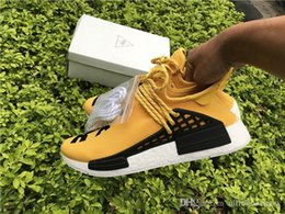 Wholesale Pw Black - 2017 New Real PW Human Race Pharrell Williams X NMD Red Black Running Shoes For Sale Athletic men women Outdoor Boost Training Sneaker Shoes