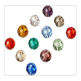 2019 facetada contas rondelle Top Quality DIY Contas Mix Rondelle Cristal Facetado Beads 6 Por 4.5mm Contas de Cristal Rondelles Bead Bracelets Frete Grátis facetada contas rondelle barato