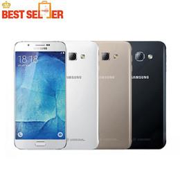 5.7 telefono di androide octa nucleo online-Disponibile Originale Samsung Galaxy A8 A8000 Octa Core MSM8939 Android 5.1 2G RAM 32G ROM 16.0MP Camera 5.7''GPS NEC rinnovato Telefono