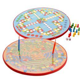 Wholesale Child Flights - Original Muwanzi 2 in 1 Magnetic Pen Maze Ball Chess Flight Children Puzzle Game Educational Desk Game Toys 2107360