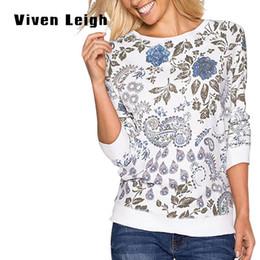 Wholesale Long Jersey Sweatshirts For Women - Wholesale- Autumn Blue Flower Jersey Sweatshirt Female Cotton Hoodies For Women Long Sleeve Tracksuit Top Unicorn Women's Sweatshirts