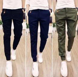 Wholesale Solid Tie Zipper - Hot Selling 2017 Spring Autumn Mens Joggers Pants Casual Trousers Solid Ankle-tied Youths Men Trousers (Asian Size)