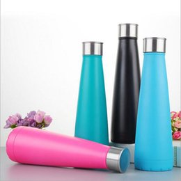 Wholesale Keep Warm Bottle - 7 Colors Water bottle Vacuum Cup Coke Bottle 450 ML which Enable Creative 304 Stainless Steel Vacuum Keep-warm Glass Cup