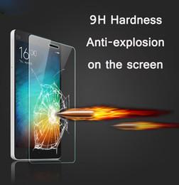 Argentina Al por mayor-Guardia de vidrio templado para Xiaomi Redmi 2 3 3S Redmi Note 2 Nota 3 Pro Mi3 Mi4 mi4c Mi5 Note Protector de pantalla de la pantalla de la película del teléfono cheap screen protector for xiaomi mi4 Suministro