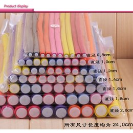 Wholesale Wholesale Flexi Rods - 10 pcs Lot Hair Curling Curler Magic Air Hair Roller Curlers Soft Foam Bendy Twist Magic Flexi Rods DIY Styling Hair Sticks Tool wholesale