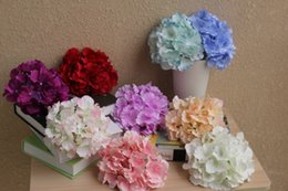 Wholesale Home Girls Party New - Large Silk Artificial Hydrangea macrophylla Flowers DIY Background Home Wedding Head Ornament Decoration Flowers