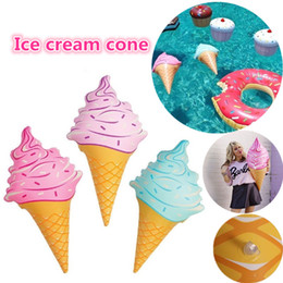"""Wholesale Ice Cream Cone Toy - 36"""" Inches Inflatable floating Ice Cream Cones Swimming Pool Play Water Toy Kids Summer Fun IC524"""