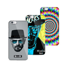Wholesale Circle Plastic Shell - Breaking Bad Crazy Dizzy Circle Hard Mobile Phone Case For Coque iPhone 5 SE 5s 6s 6 Plus Hard Plastic Shell Covers