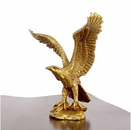 "Wholesale Antique Collectible Figurines - decoration copper crafts Bronze Brass Statue EAGLE Hawk Figure figurine 4.5"" High Sculpture wholesale factory Bronze Arts"