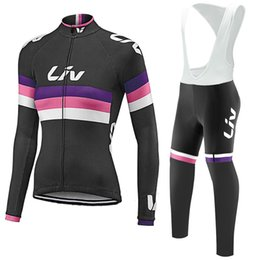Wholesale Compressed Cloth - LIV Cycling Jerseys Set Long Sleeves 2017 Autumn Style For Men Women Ropa Ciclismo Quick Dry Compressed Bike Wear Size XS-4XL Bicycle Cloth