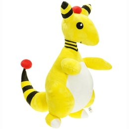 """Wholesale Ampharos Plush - New Hot 14"""" Ampharos Poke Doll Anime Collectible Pocket Monsters Plush Dolls Gifts Soft Stuffed Toys"""