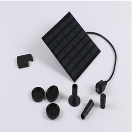 Wholesale Pool Submersible Pump - 7V 1.2W Solar Panel Power Submersible Fountain Pond Pool Water Cycle Pump Outdoor Garden Brushless