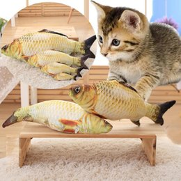 Wholesale Carp Fishing Free Shipping - Pet tease toy imitation cat mint fish toy pet fish toy carp grass carp wholesale free shipping