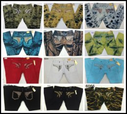 Wholesale Army Green Cargos For Men - Rhinestone Decoration Vintage Robin's Jeans Hip Hop Cargo Biker Pants Robin Denim Jean Motorcycle Jeans For Men Keychain Classic Jeans Men's