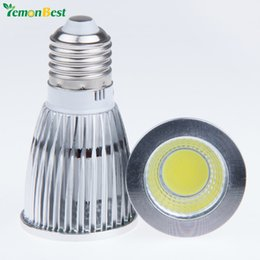 Wholesale Spotlight Socket - Wholesale-Retail 12W COB LED Bulb E27 Socket LED Spotlight AC 100-245V Warm and Cool White For home ceiling decorate illuminate