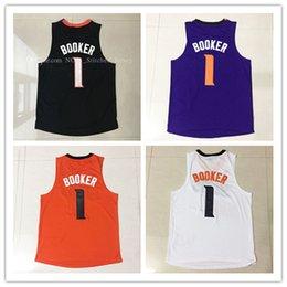 Wholesale Phoenix Top - 2017 Men Booker Phoenix #1 jersey Top sales Men's Denver Booker Phoenix 1# Basketball Jerseys 100% stitched Embroidery Free Shipping