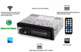 Wholesale Single Din Car - Universal Car Stereo Audio In-dash Single Din FM Receiver with 12V Bluetooth 2.0 Aux Input Receiver USB MP3 MMC WMA Radio Player