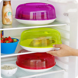 Wholesale Half Ball Plastic - Bowl Cover Anti Splash Dust Proof Half Ball Shape Food And Oil Splatter Guard Lid With Handle Multi Color 2 4zx F R