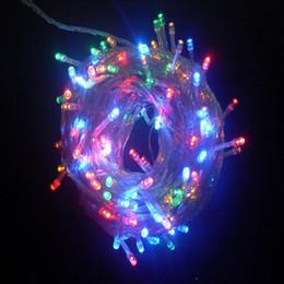 reti di albero Sconti Luci di stringa multicolori all'aperto della decorazione dell'albero di Natale di Natale Eve LED con la spina 10M 100LED della coda per nozze / Natale / giardino