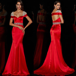 Wholesale Pleated Waistband - Robes De Soiree 2017 Sexy Sweetheart Open Back Beaded Waistband Long Mermaid Taffeta Evening Dresses Formal Party Gowns