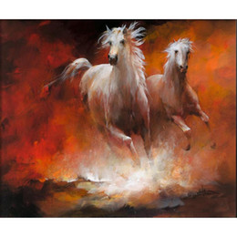 Wholesale High Quality Horse Oil Painting - Abstract art Painting Wild horses at a gallop by Willem Haenraets Oil Paintings modern High quality Hand painted