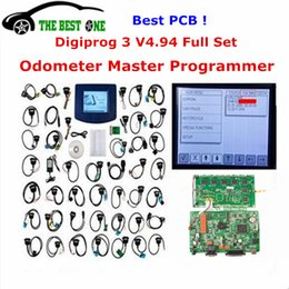 Wholesale Digiprog Programmer - Wholesale- 2017 Digiprog 3 V4.94 Full Set Digiprog3 Odometer Programmer Digiprog III Mileage Correction With ST01 ST04 Full Cable