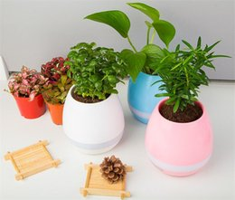 Wholesale Europe Bluetooth - Creative TOKQI Vase Smart Music Flowerpot Wireless Bluetooth Speaker K3 Intelligent Plant Piano Music with Colorful LED Night Light