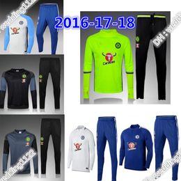 Wholesale Football Sportswear - 17 18 Chelsea Survetement HAZARD,DIEGO COSTA,OSCAR training suit 16-17 tracksuits tight pants 2017 2018 sportswear 2016 chelsea tracksuit