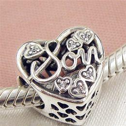 Wholesale Mother Son Bracelets - 2017 Spring 925 Sterling Silver Mother & Son Charm Bead Fits European Pandora Jewelry Bracelets Necklaces & Pendant
