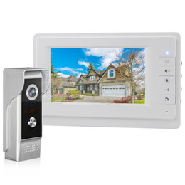 Wholesale Video Phone Lcd - 700TVLine IR Camera 7 inch TFT Color LCD Display Video Door Phone Intercom Doorbell IR Night Vision