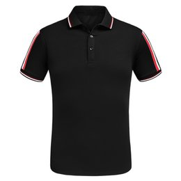 Wholesale High End T Shirts - 2017 new style french popular brand high-end mon polo shirt men t shirts Embroidery POLO men tops and tees