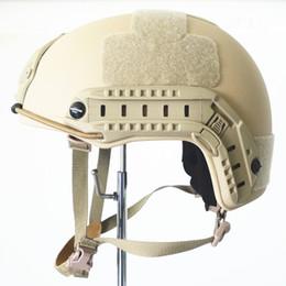 2019 cascos ops core Al por mayor-Real NIJ Nivel IIIA Balística Aramid KEVLAR Casco protector FAST OPS Core TYPE Casco táctico balístico con informe de prueba rebajas cascos ops core