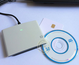 Wholesale Usb Ic Chip - USB Contact Smart Memory IC SIM Card Reader Writer Programmer ACR38U_SPC R4 +2 PCS FM4442 Chip Cards+Software Development Kit