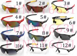 bicycle new style Promo Codes - summer new style Only SUN glasses 12colors NO LOGO sunglasses men Bicycle Glass NICE sports sunglasses Dazzle colour glasses A+free shippinG