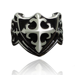 Wholesale Metal Punk Ring - 6 Design Male Punk Rings Dragon Skull Wolf Cross Claw Pattern Metal Knuckle Antique Ring For Friendship Bijoux Biker Anillos