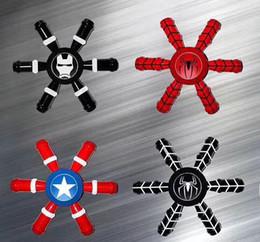 Wholesale Avenger Toys - High Quality Captain America Shield Hand Spinner Iron Man Finger Toys Spinner Spiderman Superman Avenger Heros Handspinner Ship in 1 day.