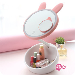 Toptan-Ayarlanabilir Vanity Masa Masa Masa Lambası Gece Lambası LED Dokunmatik Ekran Ayna Taşınabilir Makyaj Depolama Aydınlık Kız Kadın hediye nereden