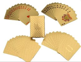 Wholesale Play Day - Fashion logo luxury gold color playing cards waterproof poker cards for party Collection CC Items