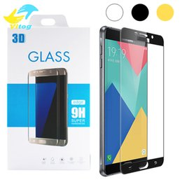 Wholesale Colorful Galaxy - 2.5D 9H Colorful Full Cover Tempered Glass For P9 Samsung Galaxy Note 4 Note5 A5100 A7100 S6 S7 s8 A9 C5 C7 Full Coverage Screen Protector