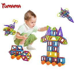 Wholesale Construction Model Kits - odels Building Toy Blocks Magnetic Wheel 58PCS Mini Magnetic Models & Building Kits Blocks 3D Construction Designer Set Children DIY...
